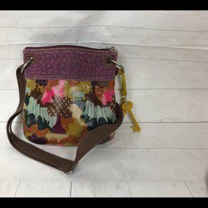 Fossil Oil Canvas Beautiful Handbag
